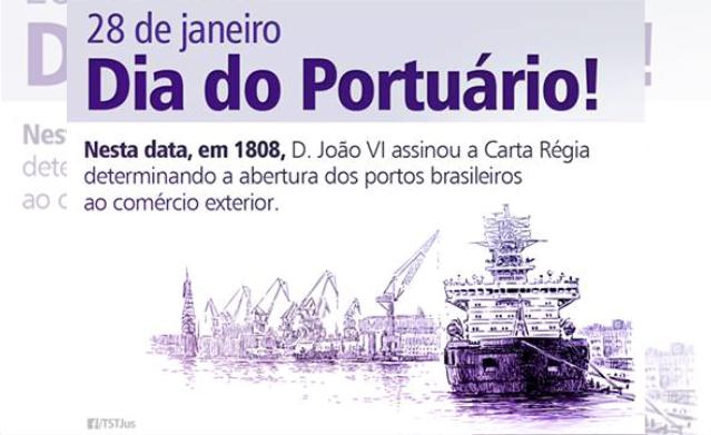 Antecipação feriado do Dia do Portuário - 28 para 27 de janeiro