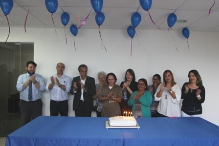 Aniversariantes comemoram juntos