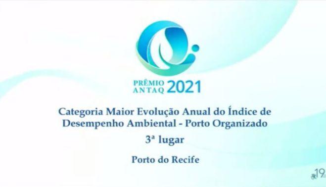 Porto do Recife entre os três melhores do Prêmio ANTAQ 2021 em desempenho ambiental